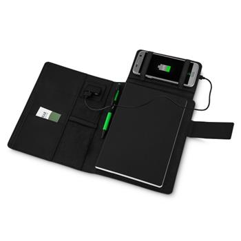Caderno com Carregador  Power Bank